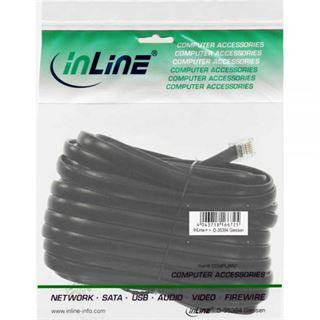 (€0,33*/1m) 15.00m InLine ISDN Anschlusskabel RJ12 Stecker auf