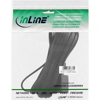 3.00m InLine ISDN Verlängerungskabel RJ12 Stecker auf RJ12