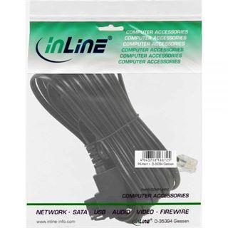 (€0,82*/1m) 6.00m InLine TAE-F Anschlusskabel TAE-F Stecker auf