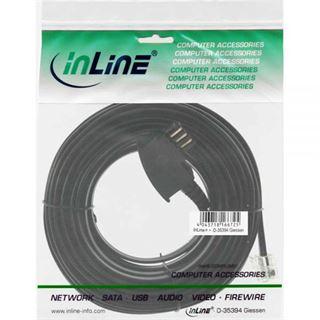 (€0,49*/1m) 10.00m InLine TAE-N Verbindungskabel TAE-N Stecker