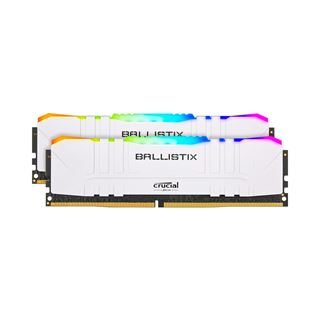 32GB Crucial Ballistix RGB weiß DDR4-3200 DIMM CL16 Dual Kit