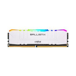 32GB Crucial Ballistix RGB weiss, DDR4-3200 DIMM, CL16, Single,