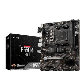 MSI B550M Pro AMD B550 So.AM4 Dual Channel DDR4 U ATX Retail
