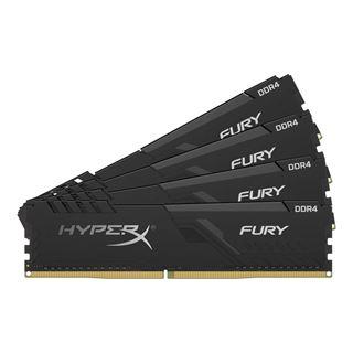 64GB HyperX Fury schwarz, DDR4-3000 DIMM, CL16, Quad-Kit (4x16GB)