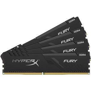 128GB HyperX Fury schwarz, DDR4-3200 DIMM, CL16, Quad-Kit (4x32GB)