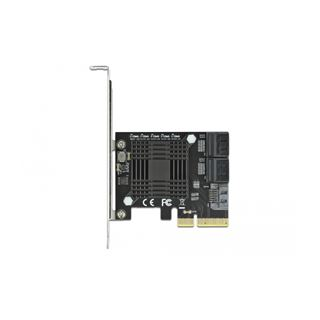 Delock 5 Port SATA PCI Express x4 Karte - Low Profile Formfaktor