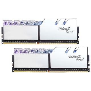 64GB G.Skill Trident Z Royal silber DDR4-3200 DIMM CL14 Dual Kit