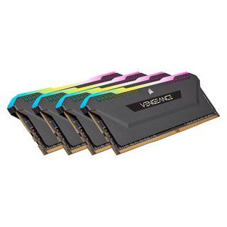 32GB Corsair Vengeance RGB PRO SL schwarz DDR4-3200 DIMM CL16 Quad Kit