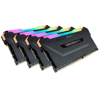 128GB Corsair Vengeance RGB PRO schwarz DDR4-3000 DIMM CL16 Quad Kit