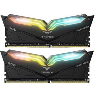 32GB TeamGroup T-Force Night Hawk RGB DDR4-3600 DIMM CL18 Dual Kit