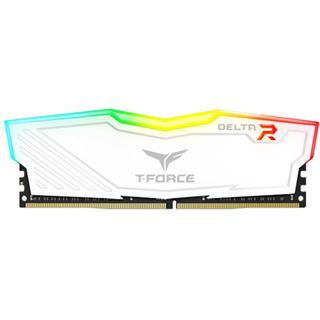 16GB TeamGroup T-Force Delta RGB weiß DDR4-3200 DIMM CL16 Single
