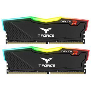 16GB TeamGroup Delta RGB schwarz DDR4-3600 DIMM CL18 Dual Kit