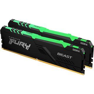 16GB Kingston FURY Beast RGB DDR4-3600 DIMM CL17 Dual Kit