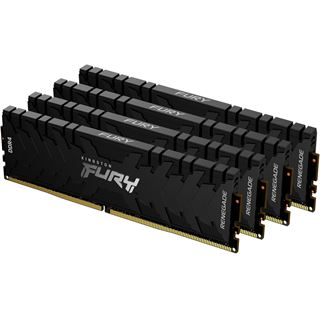128GB (4x 32768MB) Kingston FURY Renegade DDR4-3600MHz CL18 schwarz