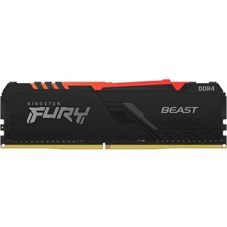 8GB Kingston FURY Beast RGB DDR4-3000 DIMM CL15 Single