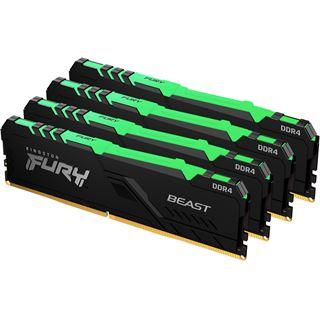 32GB Kingston FURY Beast RGB DDR4-3600 DIMM CL17 Quad Kit