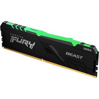 16GB Kingston FURY Beast RGB DDR4-3733 DIMM CL19 Single