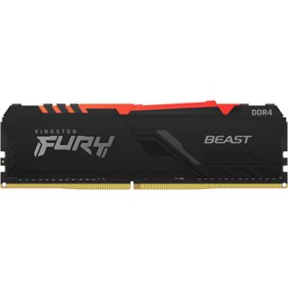 32GB Kingston FURY Beast RGB DDR4-2666 DIMM CL16 Single