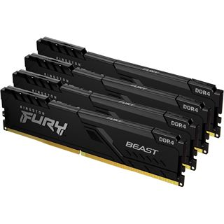 64GB Kingston FURY Beast DDR4-3200 DIMM CL16 Quad Kit