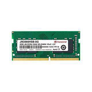 4GB (1x 4096MB) Transcend JM DDR4 3200MHz SO-DIMM CL22 1.2V