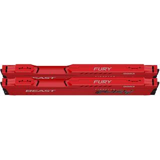 Kingston FURY Beast rot DDR3 - Kit - 8 GB: 2 x 4 GB - DIMM 240-PIN -