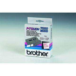 Brother SCHRIFTBAND LAMINIERT ROT/WEISS 24 MM 15,4M PT 8000/ PC (TX