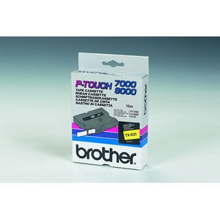 Brother SCHRIFTBAND LAMINIERT SCHWARZ/GELB 12MM 15,4M PT 800 0/PC