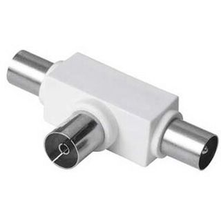 () 0.00m Hama Adapter Standard Koax Buchse auf 2 Koax Stecker
