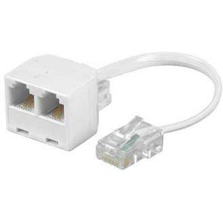 0.10m Hama ISDN Adapterkabel 8p4c RJ45 Stecker auf 2xRJ45 Buchse