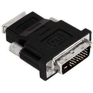 Hama Adapter DVI 24+1 Stecker auf HDMI-Buchse Schwarz