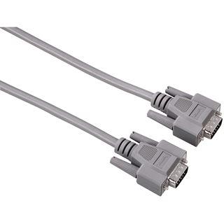 (€4,78*/1m) 5.00m Hama VGA Anschlusskabel 15pol Stecker auf