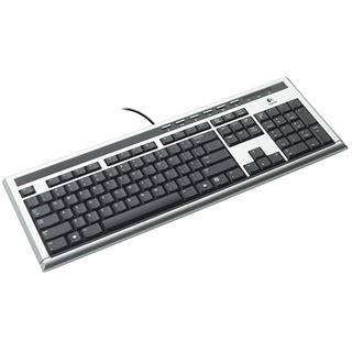 Logitech UltraX Premium Tastatur Silber Deutsch USB BULK