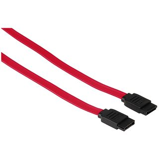 0.60m Hama SATA 3Gb/s Anschlusskabel SATA Stecker auf SATA Stecker Rot