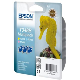 Epson Tinte C13T048B4010 cyan hell, magenta hell, gelb