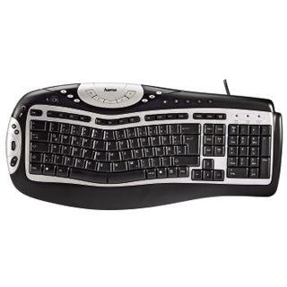 Hama SL680 USB Deutsch schwarz/silber (kabelgebunden)