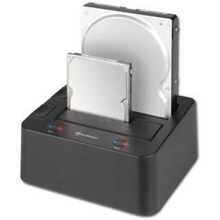 "3.5"" (8,89cm) Sharkoon Quickport Duo eSATA USB 2.0 Schwarz"