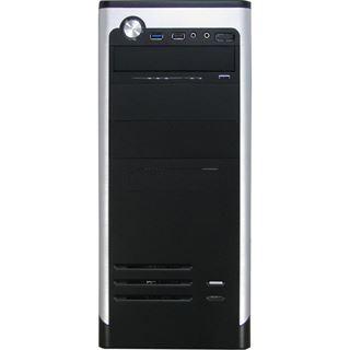 Inter-Tech AOC-7740 Redeye Midi Tower ohne Netzteil schwarz/silber