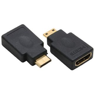 Inline HDMI Adapter High-Speed HDMI-Buchse auf HDMI Typ C Stecker