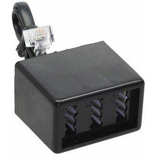 (€49,00*/1m) 0.10m InLine Telefon Adapterkabel RJ11 Stecker auf