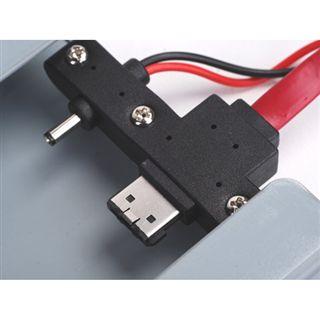 """3.5""""(8,89cm) Silverstone SST-MS05B eSATA USB 2.0 Schwarz"""