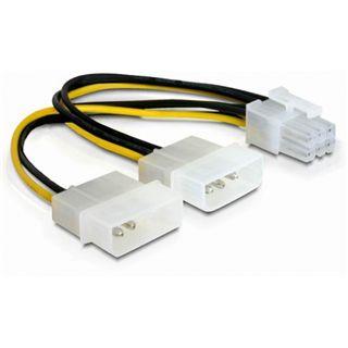 (€26,00*/1m) 0.15m Delock PCI Express Stromadapterkabel 2x Molex