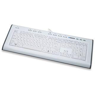 Manhattan X-Structure Multimedia Tastatur Weiß Deutsch USB