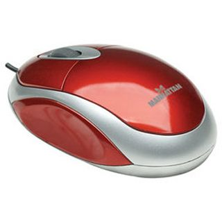 Manhattan MH1 Mini Optische Maus Rot USB