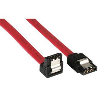 (€13,00*/1m) 0.30m InLine SATA 3Gb/s Anschlusskabel gewinkelt