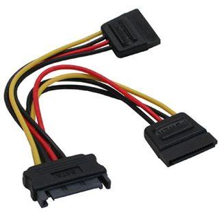 (€46,00*/1m) 0.15m InLine SATA Y-Stromadapterkabel SATA Strom