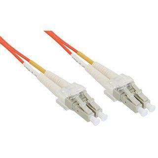 10.00m InLine LWL Duplex Patchkabel 50/125 µm OM2 LC Stecker