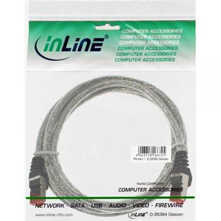 (€13,00*/1m) 0.30m InLine Cat. 6 Patchkabel S/FTP PiMF RJ45