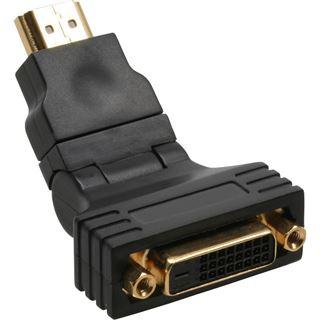 InLine HDMI Adapter HDMI-Stecker auf DVI 24+1 Buchse Schwarz 180°
