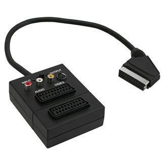 (€34,50*/1m) 0.20m InLine SCART Adapterkabel Scart Stecker auf