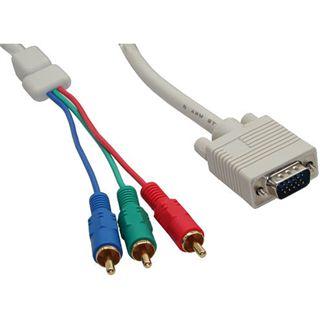 (€3,95*/1m) 2.00m InLine VGA Adapterkabel doppelt geschirmt VGA